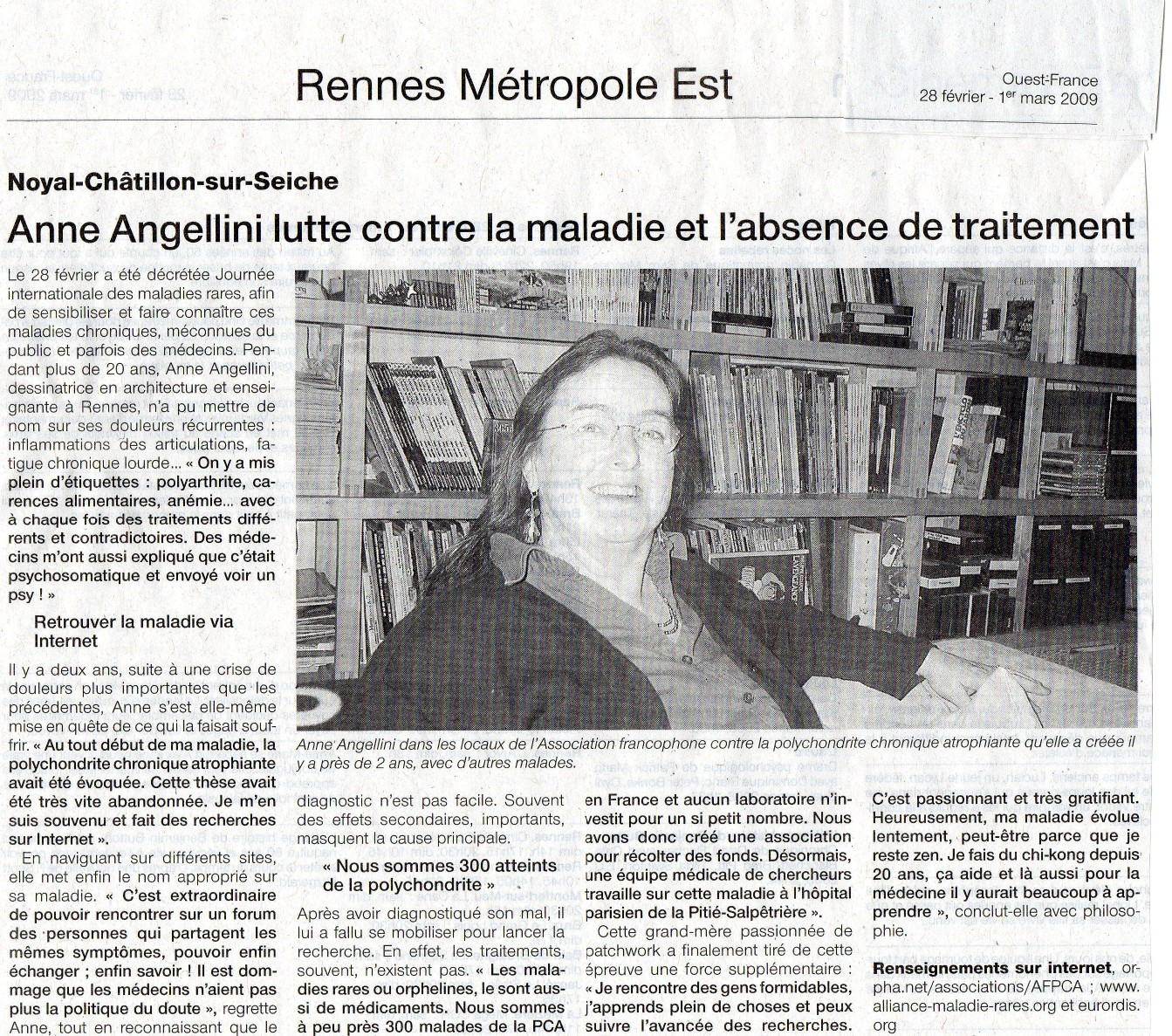 Anne-ouest France 28-02-09