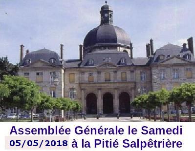 assemblée générale le xx xx 2018 à la pitié salpétriêre le 05 Mai 2018