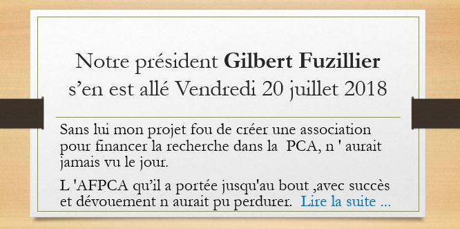 Hommage à Gilbert Fuzillier